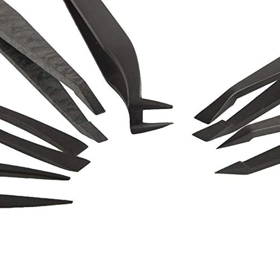 嵐の樫の木絶対にFHHVN 1本のESD繊維プラスチックピンセットで実用的な6