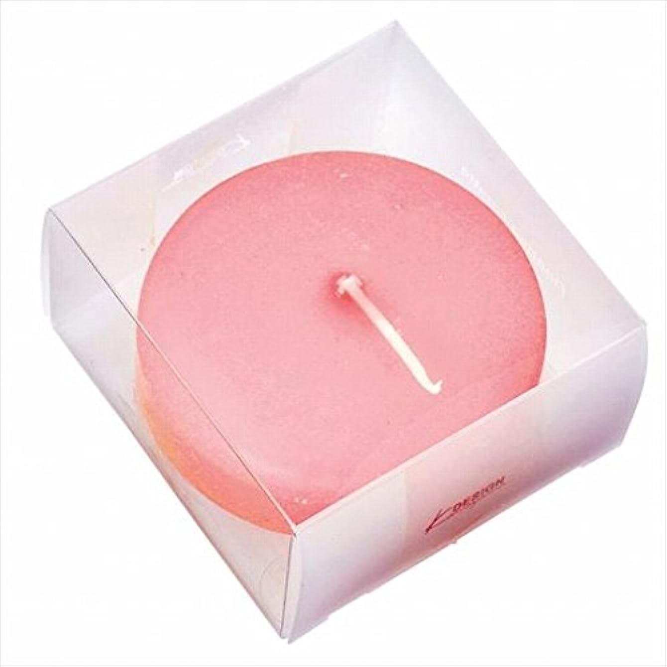 ヒゲクジラうなるレオナルドダカメヤマキャンドル(kameyama candle) プール80(箱入り) 「 ピーチアンバ 」