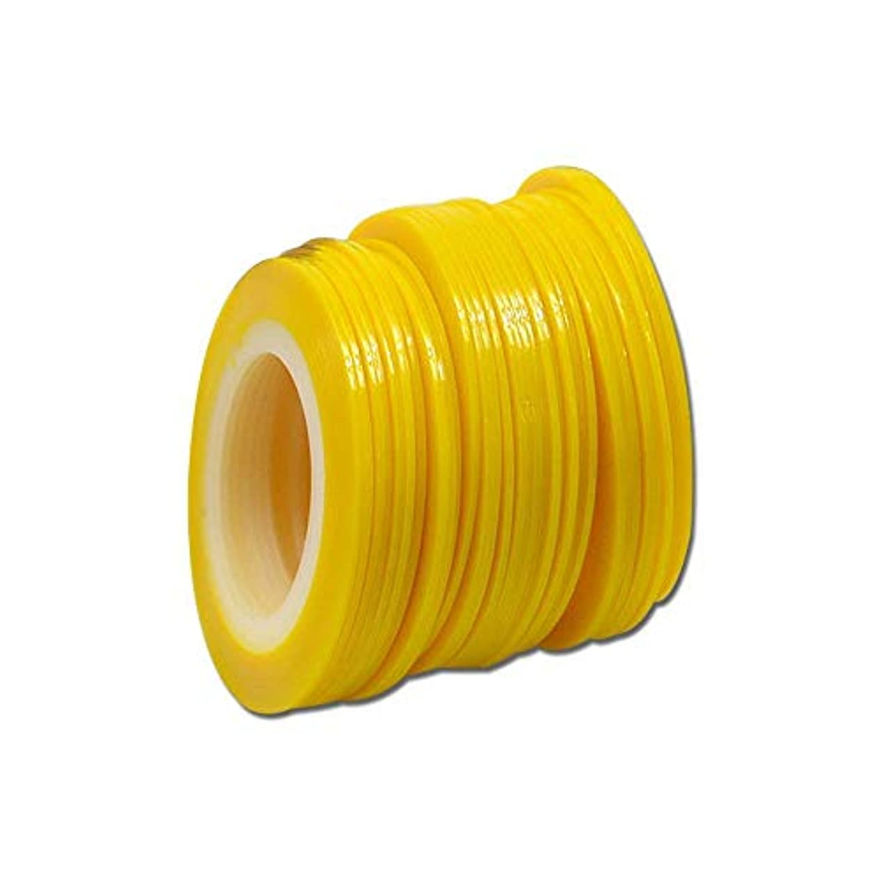 ハドルショルダー寛大さSUKTI&XIAO ネイルステッカー 100個1ミリメートル色蛍光ストライプライン美容のヒントネイルステッカーネイルアートロールストライピング、黄色