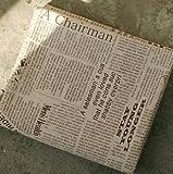 オシャレで シックな アンティーク風 英字新聞デザイン ハンドメイド布 145×50cm クッションや バッグ作りなどに