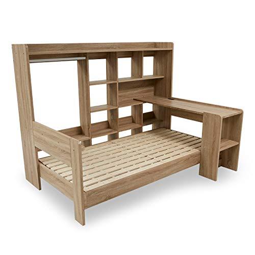 LOWYA(ロウヤ)ロフトベッド システムベッド ベッドフレーム シングル コーディネート可能 オークナチュラル