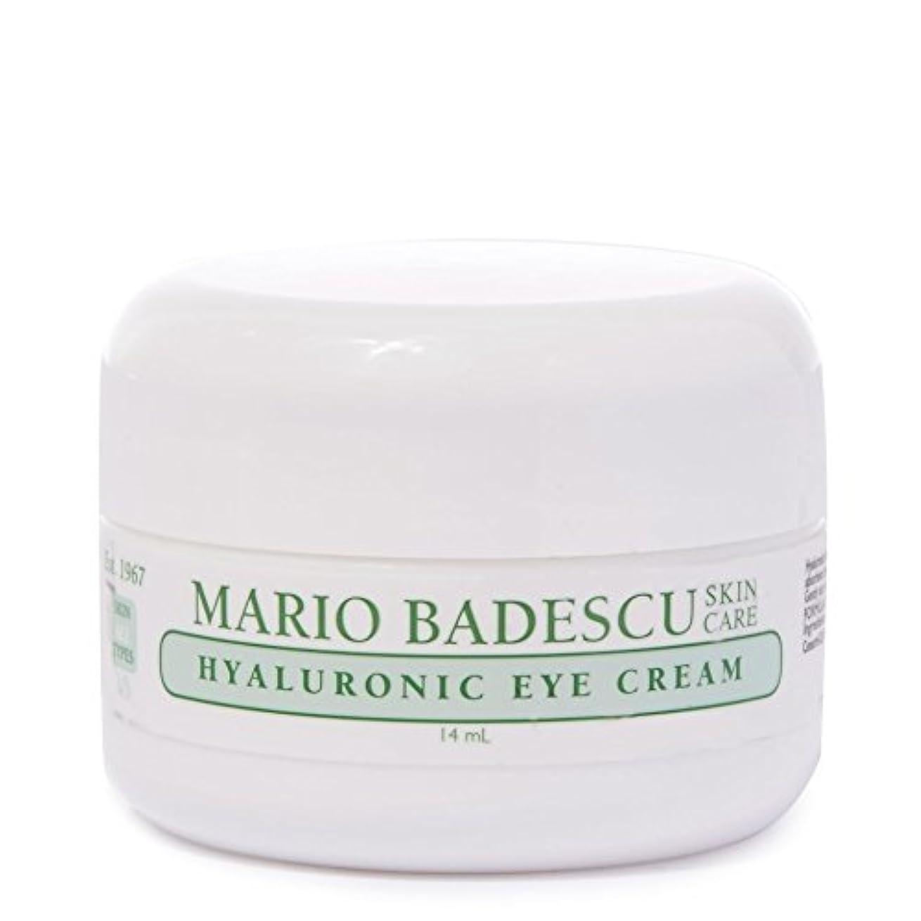 特異性ユーモラス列車Mario Badescu Hyaluronic Eye Cream 14ml - マリオ?バデスキューヒアルロンアイクリーム14ミリリットル [並行輸入品]