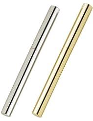 アトマイザー ロールオン 2本セット 香水 詰め替え 『スティックアトマイザー』 (シルバー ? メタル   ゴールド?メタル) / 携帯性?遮光性?保香性?男女OK