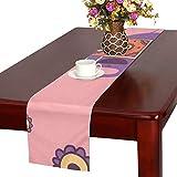 GGSXD テーブルランナー すばしこい 象 クロス 食卓カバー 麻綿製 欧米 おしゃれ 16 Inch X 72 Inch (40cm X 182cm) キッチン ダイニング ホーム デコレーション モダン リビング 洗える