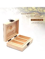 RAINBOW ABBY プロフェッショナル エッセンシャル オイル 小さな 木製 キャリング ケース - 3つ スロット/ 4.3x3.2x1.5インチ カスタマイズ 自然 パイン エッセンシャル オイル ストレージ...