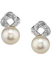 14 Kゴールドアコヤ養殖真珠&ダイヤモンドCharlotteイヤリング
