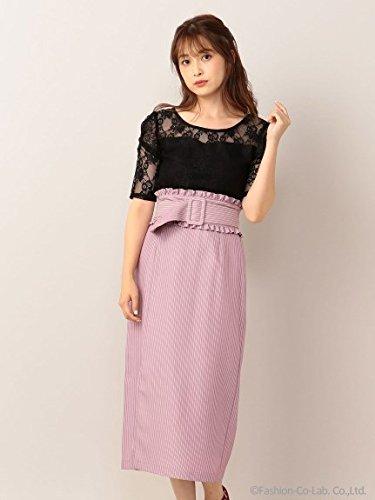 MIIA (ミーア) フリルベルト付きタイトスカート