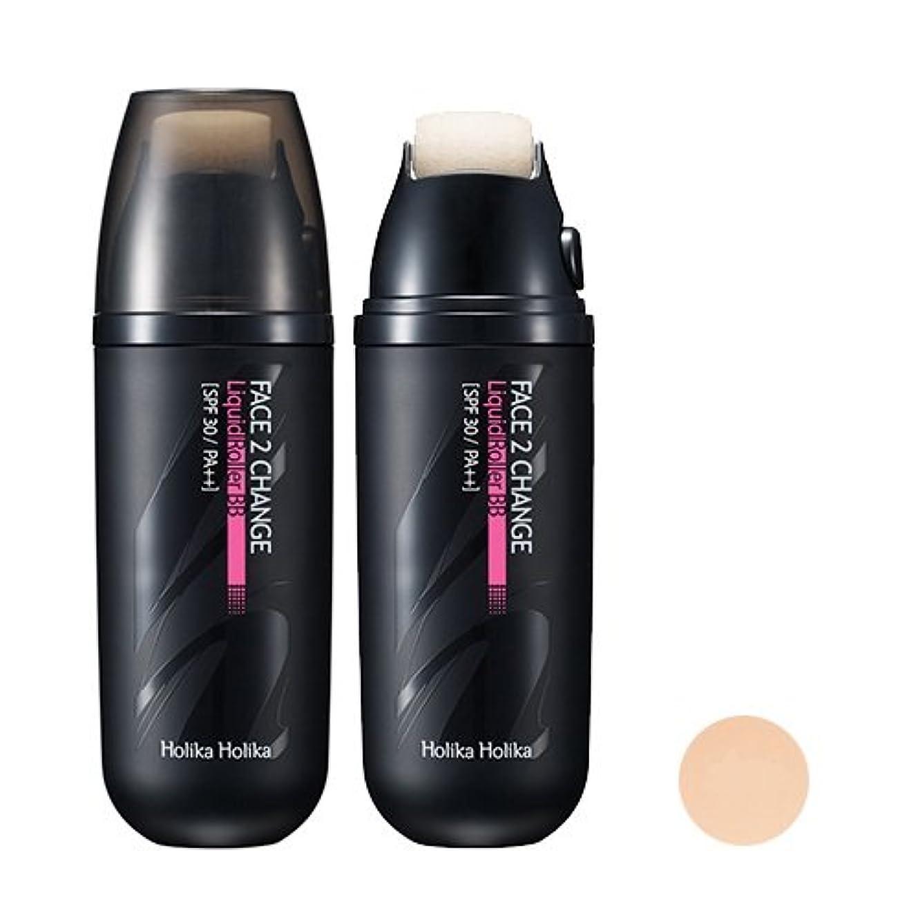 評価する社説去る[Holika Holika/ホリカホリカ] フェイス 2チェンジ リキッドローラーBB クリーム (SPF30 PA++) 2タイプ?韓国コスメ/ Face 2 Change Liquid Roller BB Cream...