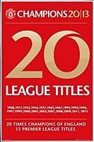 ポスター: Footballポスター–Manchester United、20Titles ( 36x 24インチ) 24  x 36  Inch 68706R017