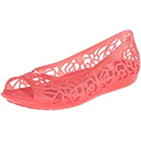 crocs Womens Isabella Jelly Flat Coral