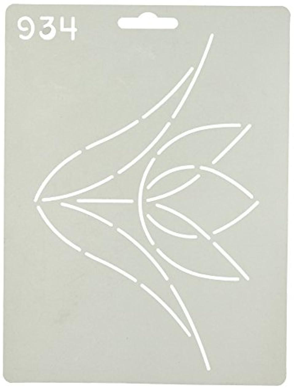 報復する社会主義者団結Quilting Creations Single Tulip Quilt Stencil by Quilting Creations