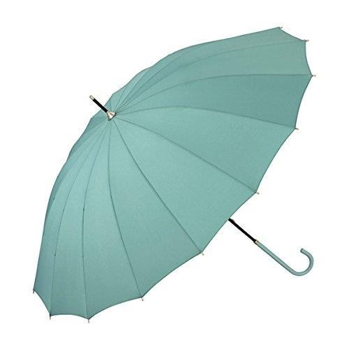 w.p.c(WPC) 【雨傘】16本骨無地/丈夫でシックな印象(レディース/長傘)【グリーン/55】