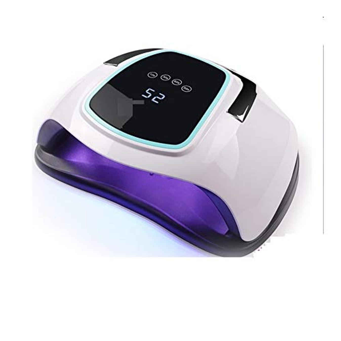 ラオス人医師量LittleCat 4タイマーは10/30/60 / 99Sホワイトを設定して爪や足の爪用ゲルポーランド自動センサーネイルアートツールのための専門のUV LEDネイルランプ (色 : American standard flat plug)