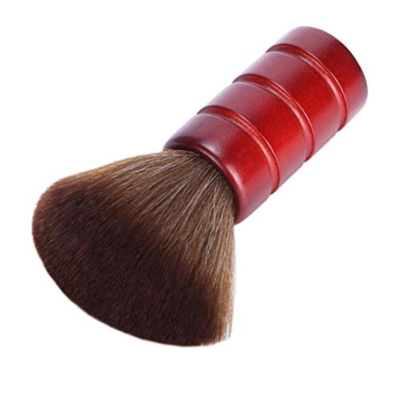尾気分が良いイベントLurroseプロフェッショナルヘアカットブラシソフトファイバーフェイスネックダスターブラシ理髪サロン理容ツール