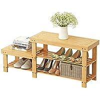 LINGZHIGAN 竹の靴の棚シンプルな多層多目的靴の交換靴ベンチ経済寮のスペース竹Manufacturin (サイズ さいず : 88 * 28 * 45cm)