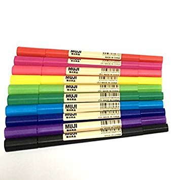 水性カラーペン 水性ツインペン ペン 文具 セット 無印良品