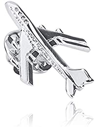 SIYWINA Aircraft Brooch Male Retro Pin Suit Collar Needle Metal Brooch