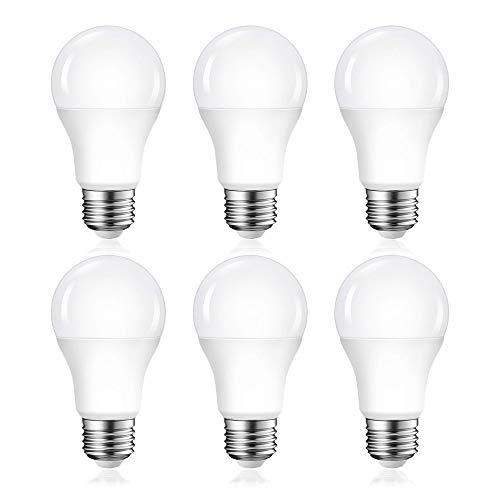 LED電球 E26口金 60W形相当 電球色 9W 一般電球 E26 800ルーメン A60 密閉形器具対応 断熱材施工器具対応 広配光タイプ PSE認証 三年保証 【6個入り】
