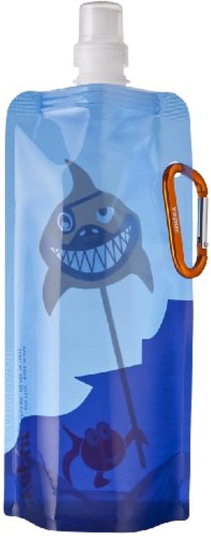 徴収回転するフィードオンVapur Artist Series Shark Bait Bouteille à eau en plastique réutilisable 0,5 l Bleu