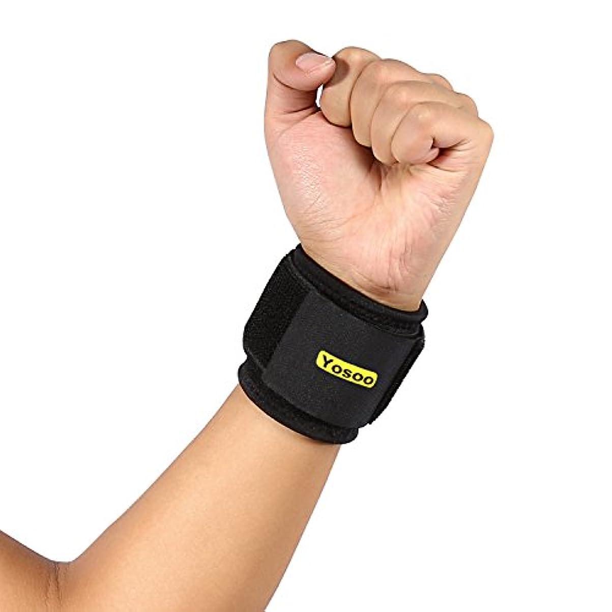 有用ダニ機動手首サポーター/ブレース ネオプレン シリコン スポーツ用 抗菌 左右兼用 男女兼用 調節可 手首の痛みを軽減 通気性