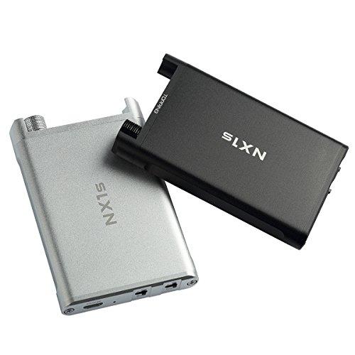 Topping NX1s ポータブルヘッドホンアンプ 40時間連続稼働 低音強化 NX1A進化 HIFI音質 携帯式 Bass Gain機能 音質改善 新型超薄高性能 ブラック/シルバー 日本語取扱説明書付