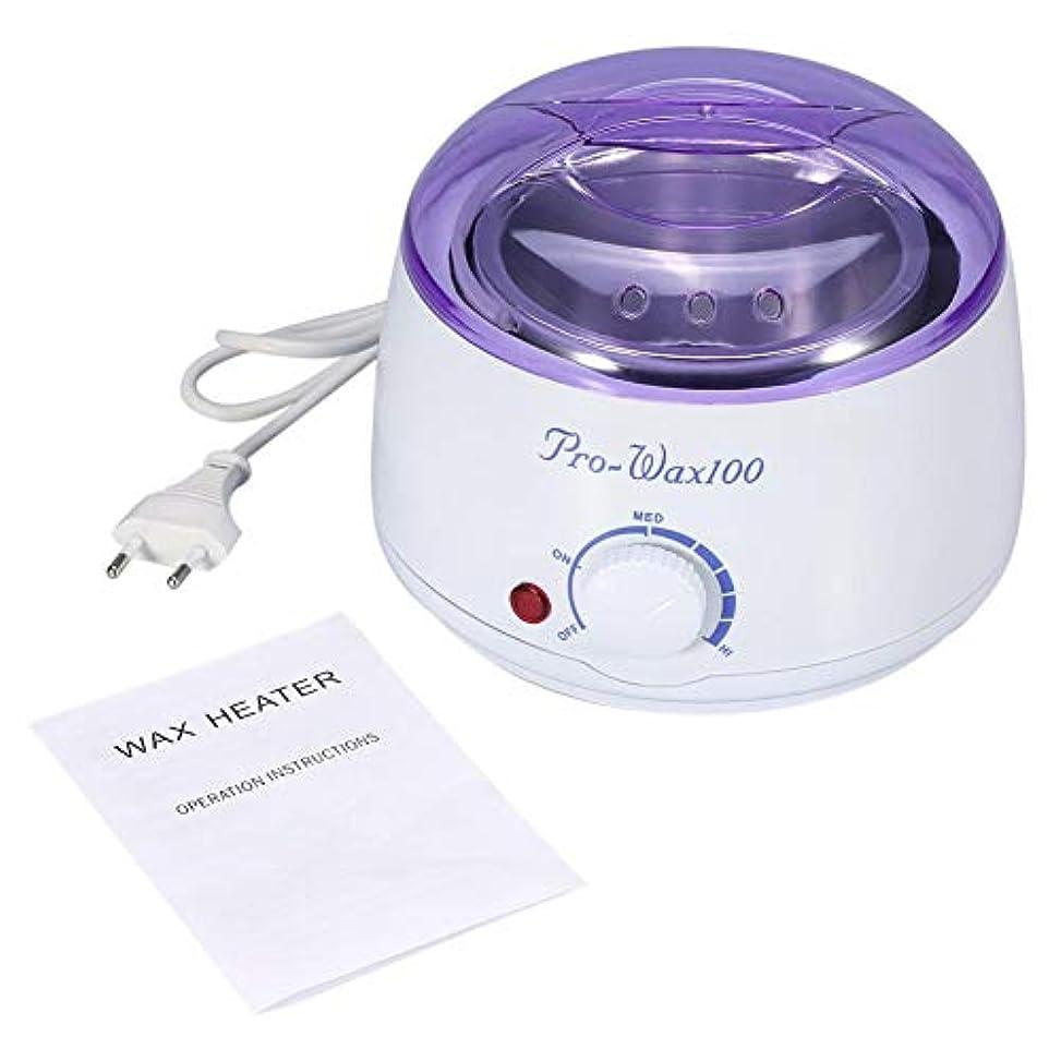 舌なスタックブロッサムワックスマシン、500mlワックスヒーター、調節可能な温度ノブおよびオートオフ機能付き、あらゆるタイプのワックス用のプロフェッショナルホットワックスマシン、美しさと脱毛(米国)