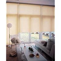 ブラインダー 光をやわらかく通し、シルエットを映し出す軽い感触 インテリア おすすめ 窓 目隠し?日除け 間仕切り ロールスクリーン 無地 防炎規格品 巾70×高さ160cm アプリコット