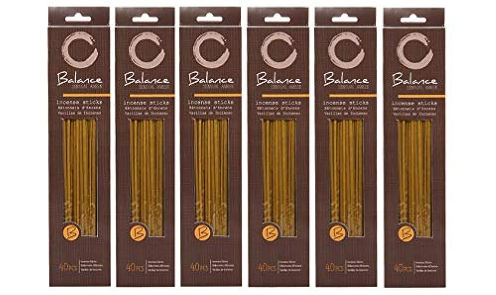 レタス家庭教師防衛Hosley 's Sensual Amber (バランス) Highly Fragranced Incense、240 Incense Sticks/約240 gm。手Fragranced、Infused with Essential...