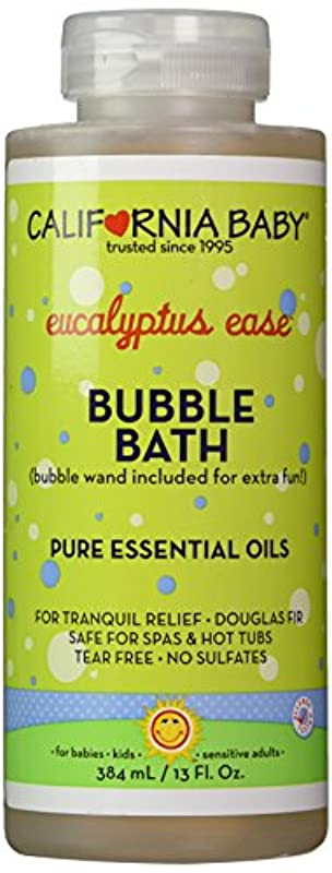 フラフープ守る助けになるCalifornia Baby Colds & Flu Bubble Bath - 13 oz.