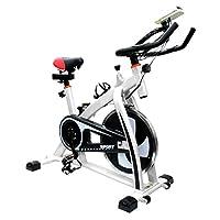 フィットネスバイク スピンバイク トレーニングバイク エクササイズバイク エクササイズ 室内用 サイクルトレーニング ルームバイク スピナーバイク スピニングバイク (ホワイト)