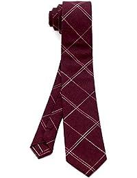 [ダブリューアンドエム] コットン 綿 リネン 麻 ナロータイ 6㎝ 幅 細 ネクタイ ビジネス 洗濯 可能 無地 チェック 柄