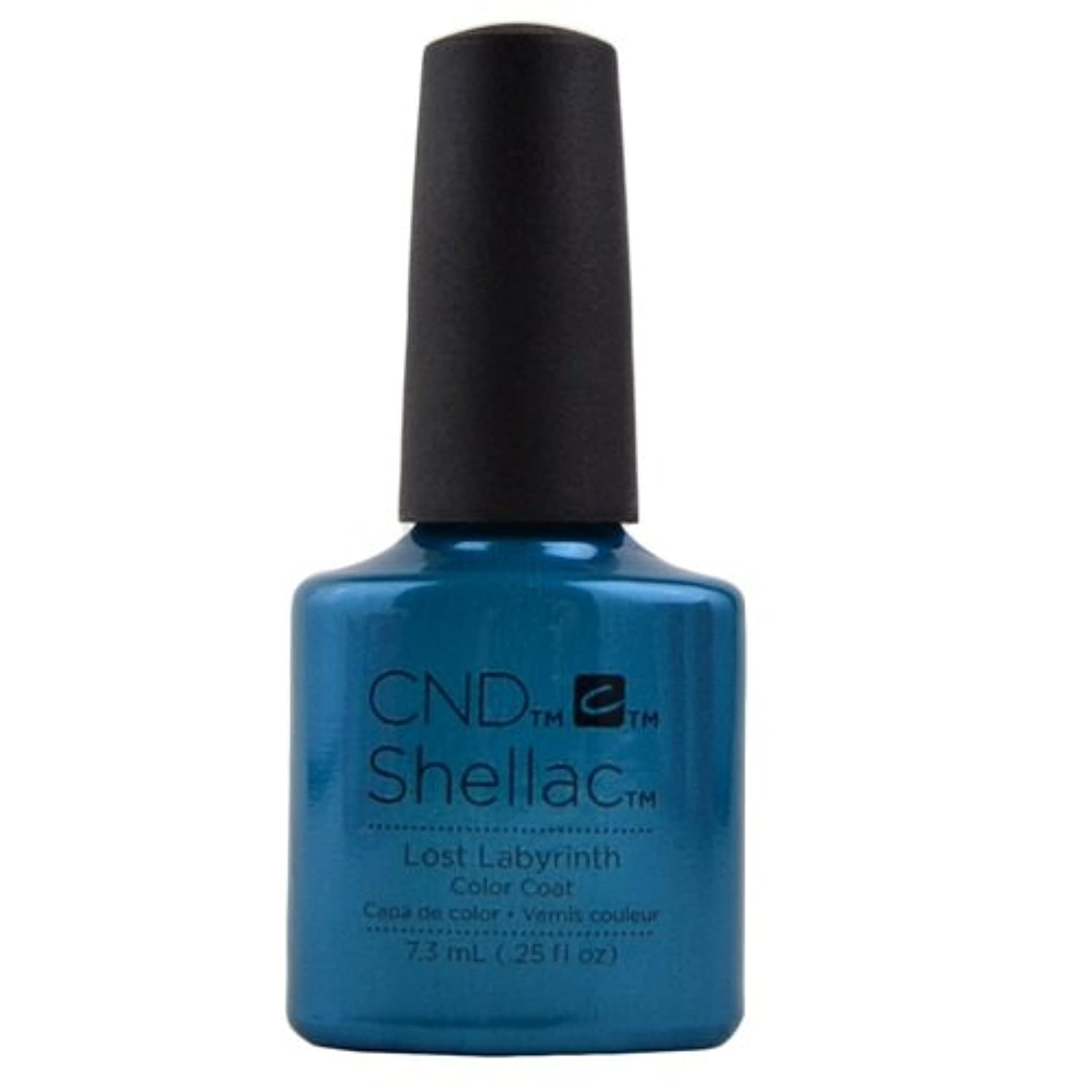 黙北方フィールドCND Shellac Gel Polish - Lost Labyrinth - 0.25oz / 7.3ml