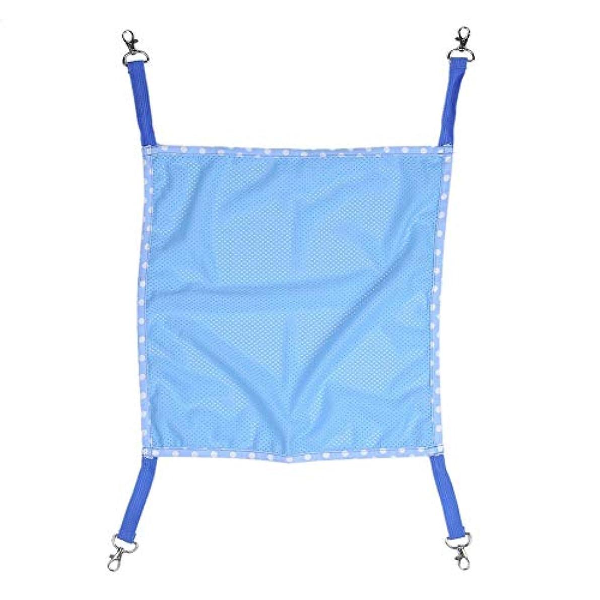 テンションめったにささやきTAONMEISU メッシュハンモック ブルー/ピンク 長さ調整できる ベッドやスイングとして