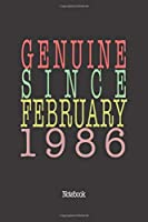 Genuine Since February 1986: Notebook