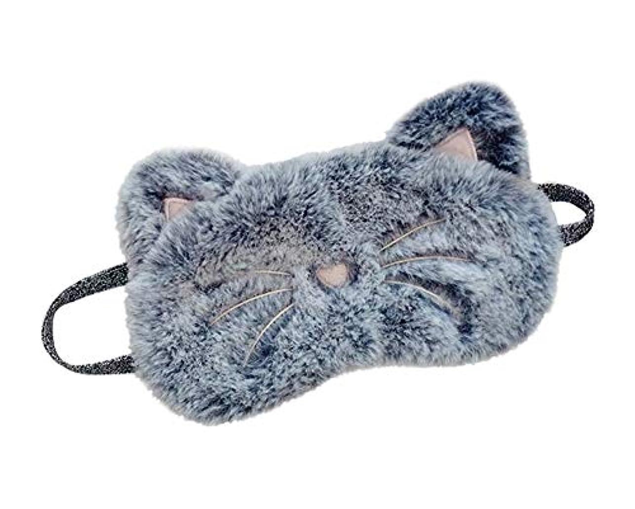 輝度に負ける洗うかわいい動物漫画猫睡眠アイマスクソフトアイカバー目隠しマスク