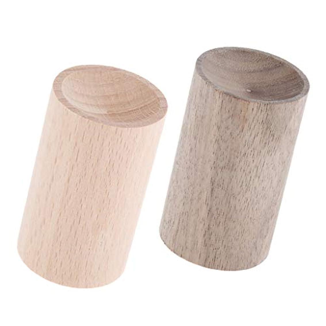 ルーディスコエステートエッセンシャルオイルディフューザー 芳香剤 手作り 天然木 車 家 オフィス 2ピース