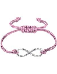 [MURTOO]レザー ブレスレット メンズ アクセサリー 腕輪 ブレスレット サージカルステンレス 収納袋付き 21cm (ピンク)