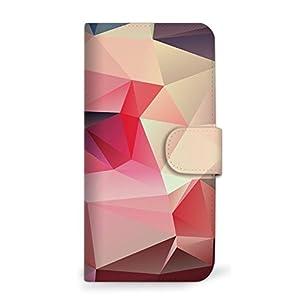 mitas Galaxy S7 edge SC-02H ケース 手帳型 幾何学柄 パープル (222) SC-0081-PU/SC-02H