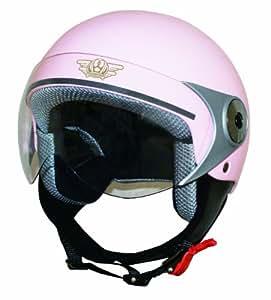 ダムトラックス(DAMMTRAX) バイクヘルメット ジェット ダムキッズ ポポGT PINK キッズサイズ(54CM~56CM)