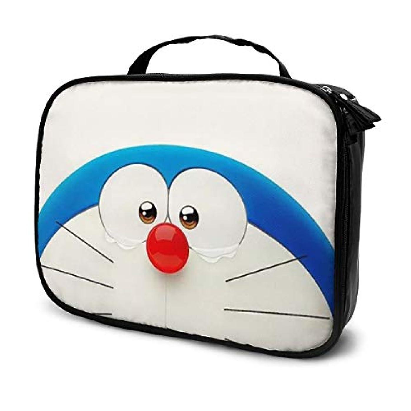 石灰岩差歯科医Daituかわいいドラえもん 化粧品袋の女性旅行バッグ収納大容量防水アクセサリー旅行