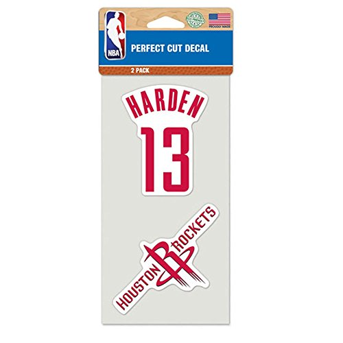 ステッカー NBA ジェームス・ハーデン ヒューストン・ロケッツ #13 背番号とチームロゴ