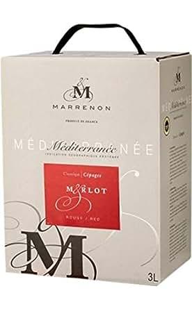 マレノン メディテラネー 3L メルロー 箱ワイン Indication geographique protegee Mediterranee 3LBIB Merot