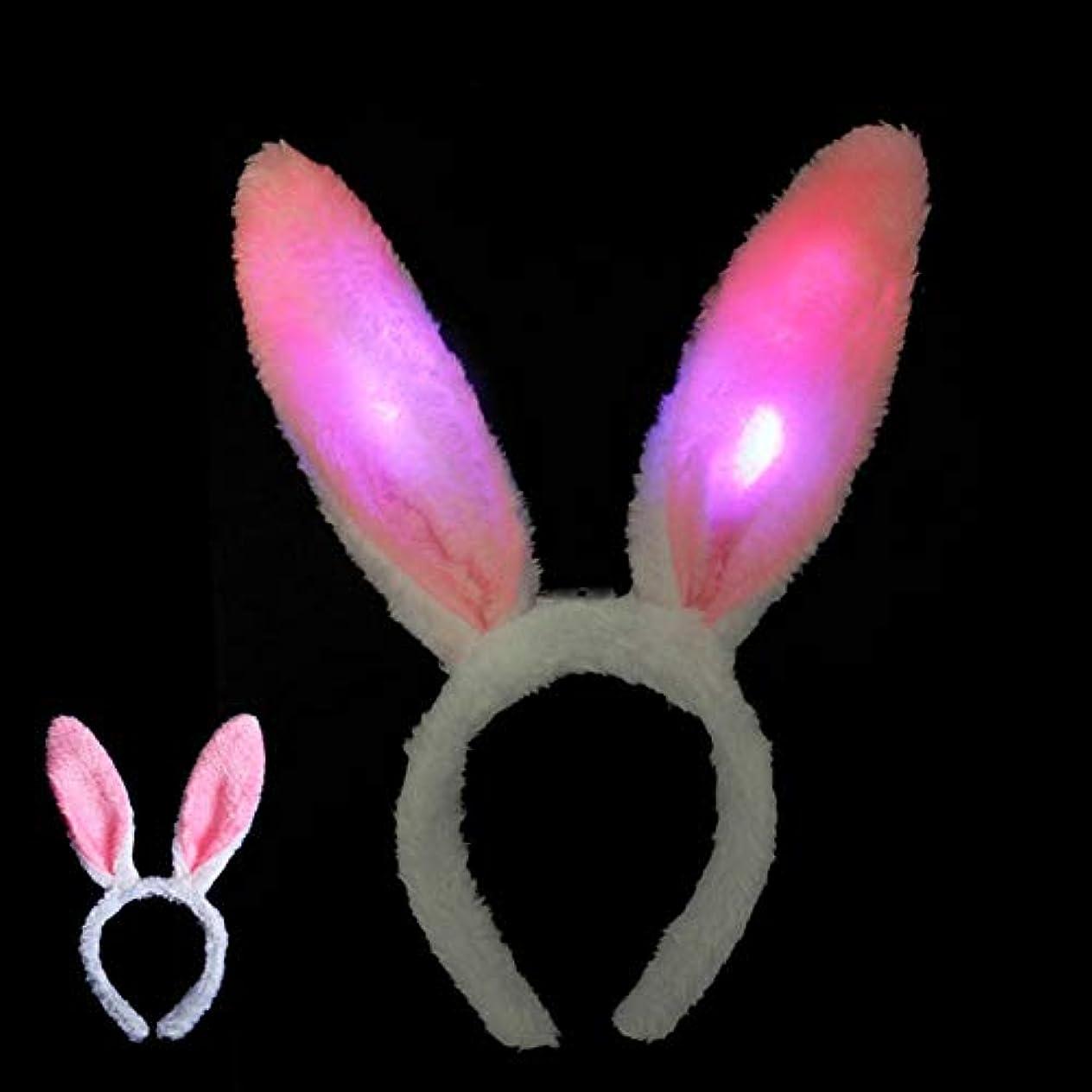 ステレオタイプオーバーフロー八百屋Fenghong 子供の発光ヘッドドレス クリエイティブ ウサギの耳ヘアクリップ with LED お祝い お祝い