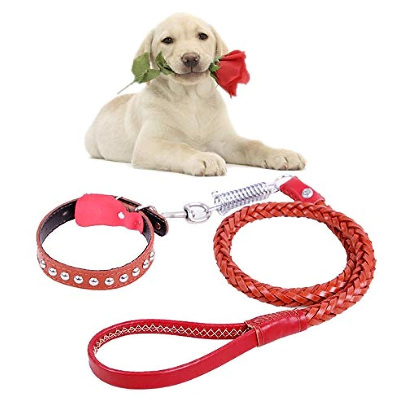 食事後ろ、背後、背面(部ライオネルグリーンストリートKANEED ペットハーネス 中小型犬 猫 散歩 お出かけ用 牛の皮の牽引ベルト犬の首輪伸縮犬のロープ、中型および大型犬に適して、L、ロープの長さ:130cm首輪のサイズ:43-55cm (色 : Brown)