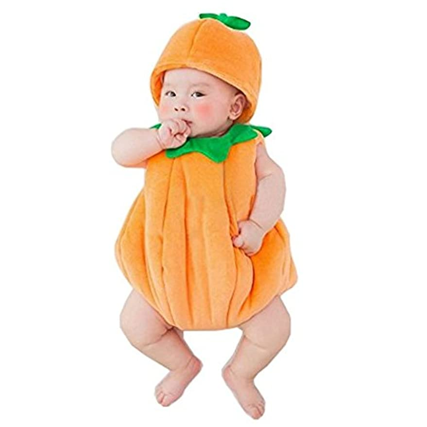 保持進捗素朴なRimocy かぼちゃのコスチューム 2点セット 寝相アート ベビー服 着ぐるみ 新生児 赤ちゃん 出産祝い