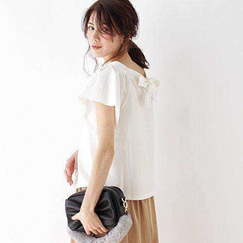 (クチュールブローチ) Couture Brooch 【2WAY】バックリボンVネックTシャツ 50813121 38(M) ホワイト系(002)