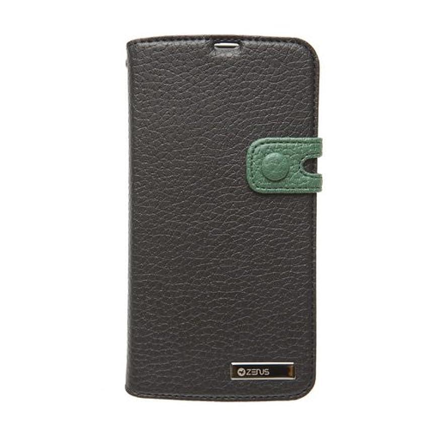 テクトニック接続詞ガレージ【日本正規代理店品】ZENUS docomo AQUOS PHONE ZETA SH-06E ケース Masstige Italian PU Edge Diary ブラック ダイアリータイプ Z2106ASH