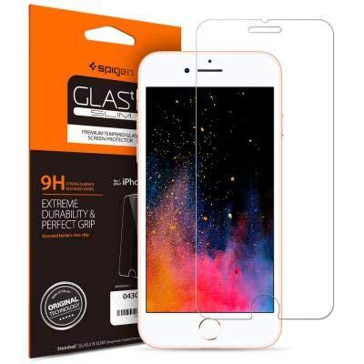 Japan スマホ ガラスフィルム iPhone8 Plus/iPhone7 Plus 対応 強化ガラス 液晶保護フィルム 高透過率 3DTouch対応 043GL20608 GLAS.tR SLIM 1枚入