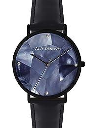 [アリーデノヴォ] ALLY DENOVO 腕時計 Gaia Pearl パール 36mm ブラック メンズ レディース ウォッチ AF5003-5