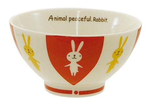 キャラクター キュート アニマルピースフル 飯碗 ウサギ 14151